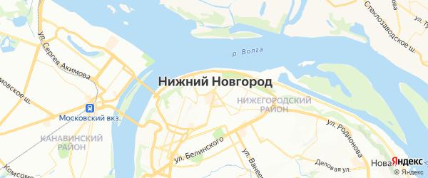 Карта Нижнего Новгорода с районами, улицами и номерами домов: Нижний Новгород на карте России
