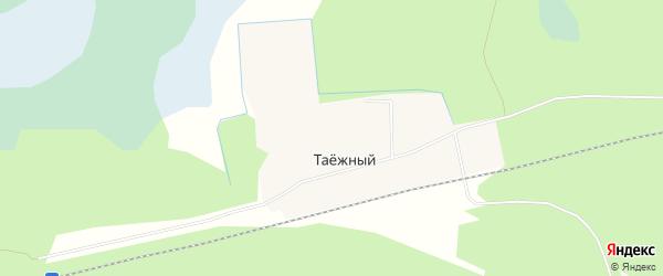 Карта Таежного поселка в Архангельской области с улицами и номерами домов