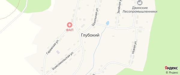 Гаражная улица на карте Глубокого поселка с номерами домов