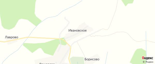 Карта деревни Ивановского в Костромской области с улицами и номерами домов