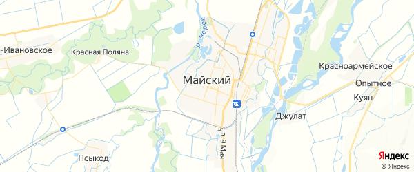 Карта Майского с районами, улицами и номерами домов