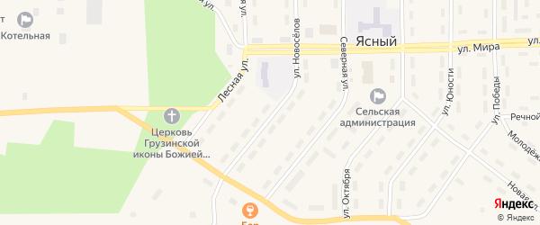 Улица Новоселов на карте Ясного поселка с номерами домов