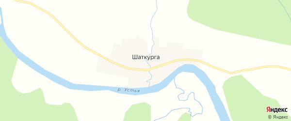 Карта деревни Шаткурги в Архангельской области с улицами и номерами домов