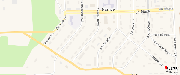 Северная улица на карте Ясного поселка с номерами домов