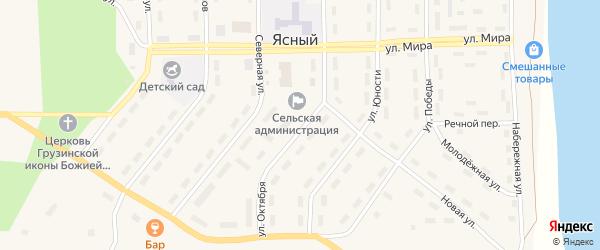 Улица Октября на карте Ясного поселка с номерами домов