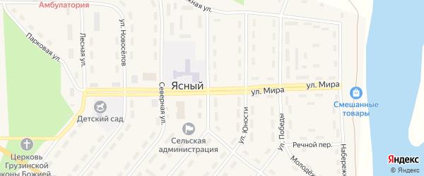 Улица Мира на карте Ясного поселка с номерами домов