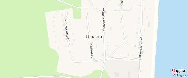 Таежная улица на карте поселка Шилеги с номерами домов