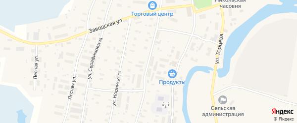 Октябрьская улица на карте поселка Каменки с номерами домов