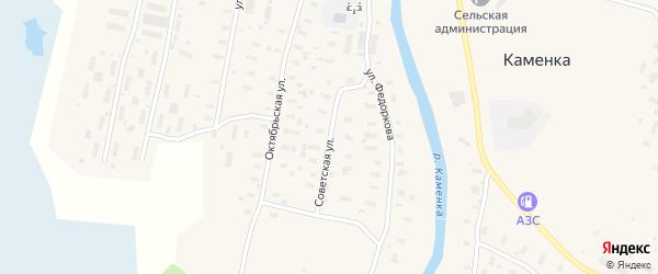 Советская улица на карте поселка Каменки с номерами домов