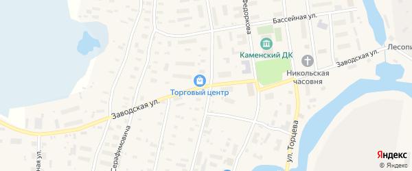 Заводская улица на карте поселка Каменки с номерами домов
