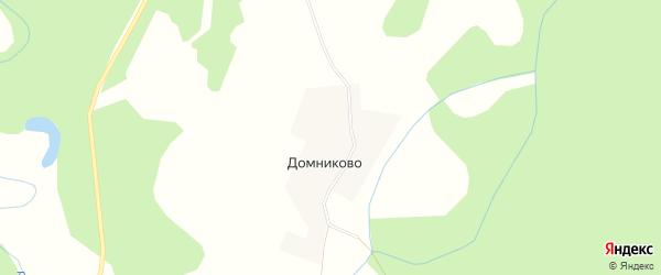 Карта деревни Домниково в Костромской области с улицами и номерами домов