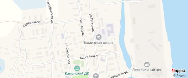 Улица Гагарина на карте поселка Каменки с номерами домов