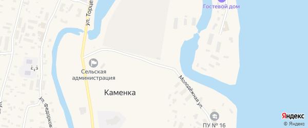 Молодёжная улица на карте поселка Каменки с номерами домов