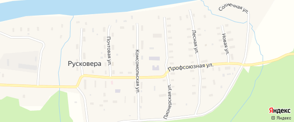 Профсоюзная улица на карте поселка Русковеры с номерами домов