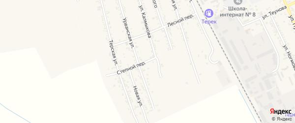 Степной переулок на карте Терека с номерами домов