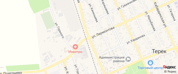 Улица Мамхегова на карте Терека с номерами домов