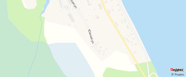 Южная улица на карте поселка Каменки с номерами домов