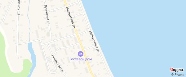 Набережная улица на карте поселка Каменки с номерами домов