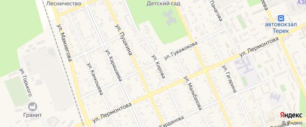 Улица Гуважокова на карте Терека с номерами домов