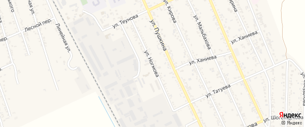 Улица Ногмова на карте Терека с номерами домов