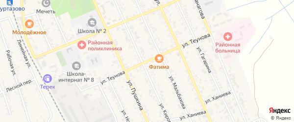 Улица Теунова на карте Терека с номерами домов