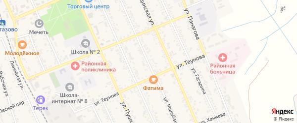 Улица Мальбахова на карте Терека с номерами домов