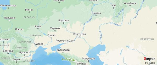 Карта Волгоградской области с городами и районами