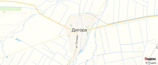 Карта Дигоры с районами, улицами и номерами домов: Дигора на карте России