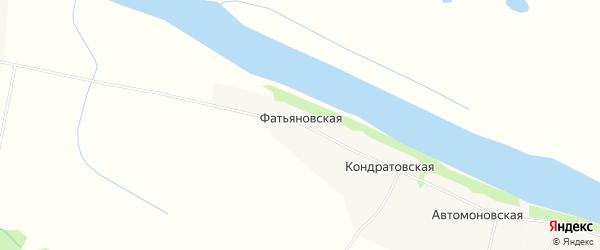 Карта Фатьяновская деревни в Архангельской области с улицами и номерами домов
