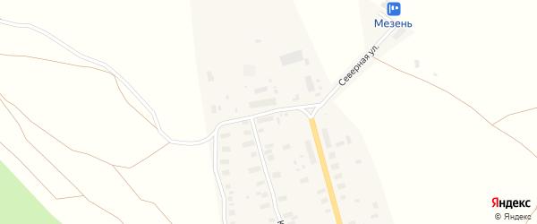 Северная улица на карте Мезени с номерами домов