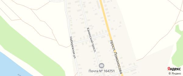 Мезенская улица на карте Мезени с номерами домов