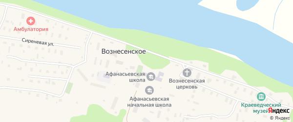 Сиреневая улица на карте Вознесенского села с номерами домов