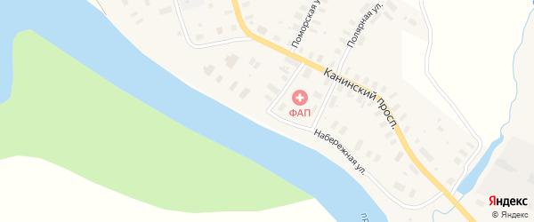 Набережная улица на карте Мезени с номерами домов