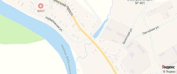 Кузнецовская улица на карте Мезени с номерами домов
