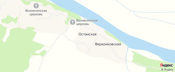 Карта Верхоиковской деревни в Архангельской области с улицами и номерами домов