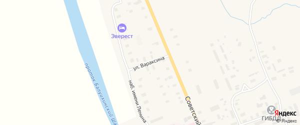 Улица Вараксина на карте Мезени с номерами домов