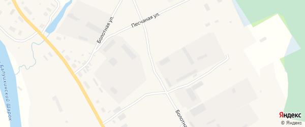 Болотная улица на карте Мезени с номерами домов
