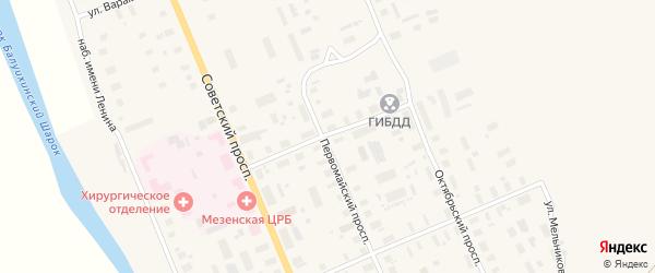 Улица Макарова на карте Мезени с номерами домов