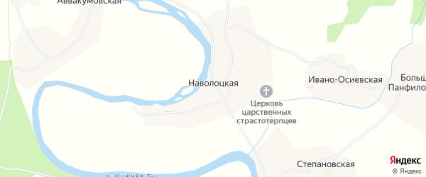 Карта Наволоцкой деревни в Архангельской области с улицами и номерами домов