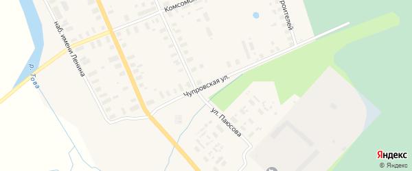 Чупровская улица на карте Мезени с номерами домов