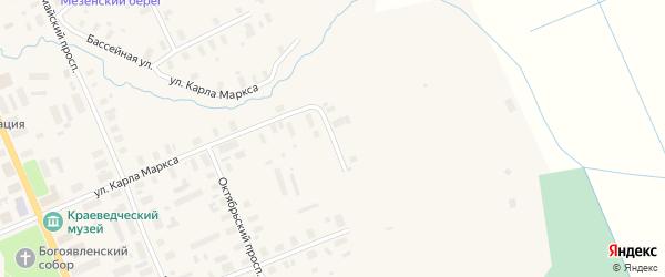 Улица Мельникова на карте Мезени с номерами домов
