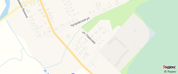 Улица Паюсова на карте Мезени с номерами домов