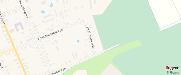 Улица Строителей на карте Мезени с номерами домов