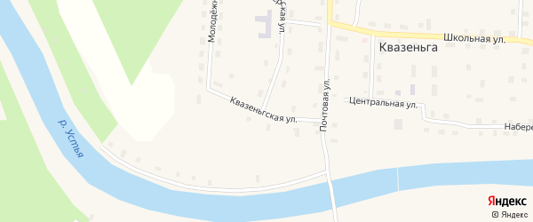 Квазеньгская улица на карте поселка Квазеньги с номерами домов