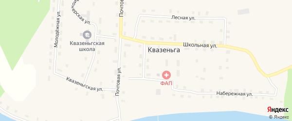 Спортивная улица на карте поселка Квазеньги с номерами домов