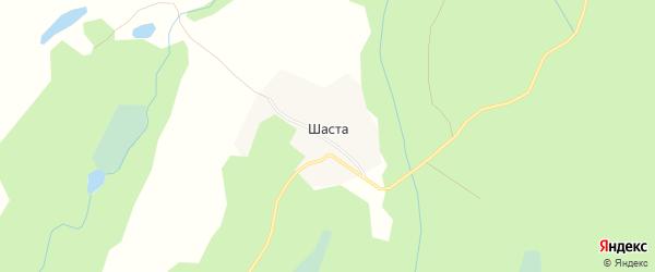 Карта деревни Шасты в Архангельской области с улицами и номерами домов