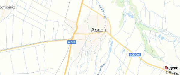 Карта Ардона с районами, улицами и номерами домов