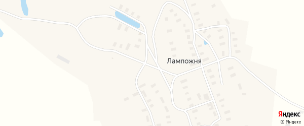 Улица Кузина В.С. на карте деревни Лампожни с номерами домов