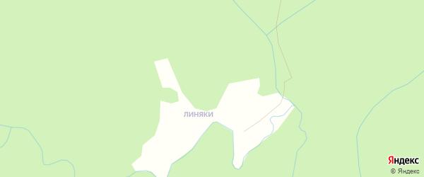 Карта поселка Линяки в Архангельской области с улицами и номерами домов
