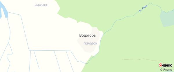 Карта деревни Водогоры в Архангельской области с улицами и номерами домов